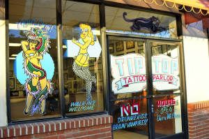 outside of tip top tattoo parlor