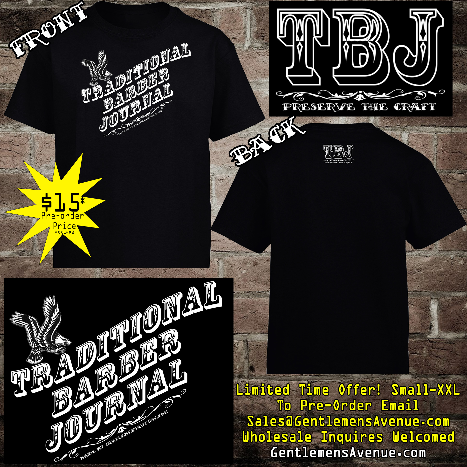 New Traditional Barber Journal T-Shirts Are Available For Pre ...