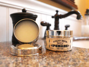 Logan Bros Pomade on sink