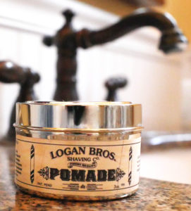 Logan Bros Pomade on sink jar alone